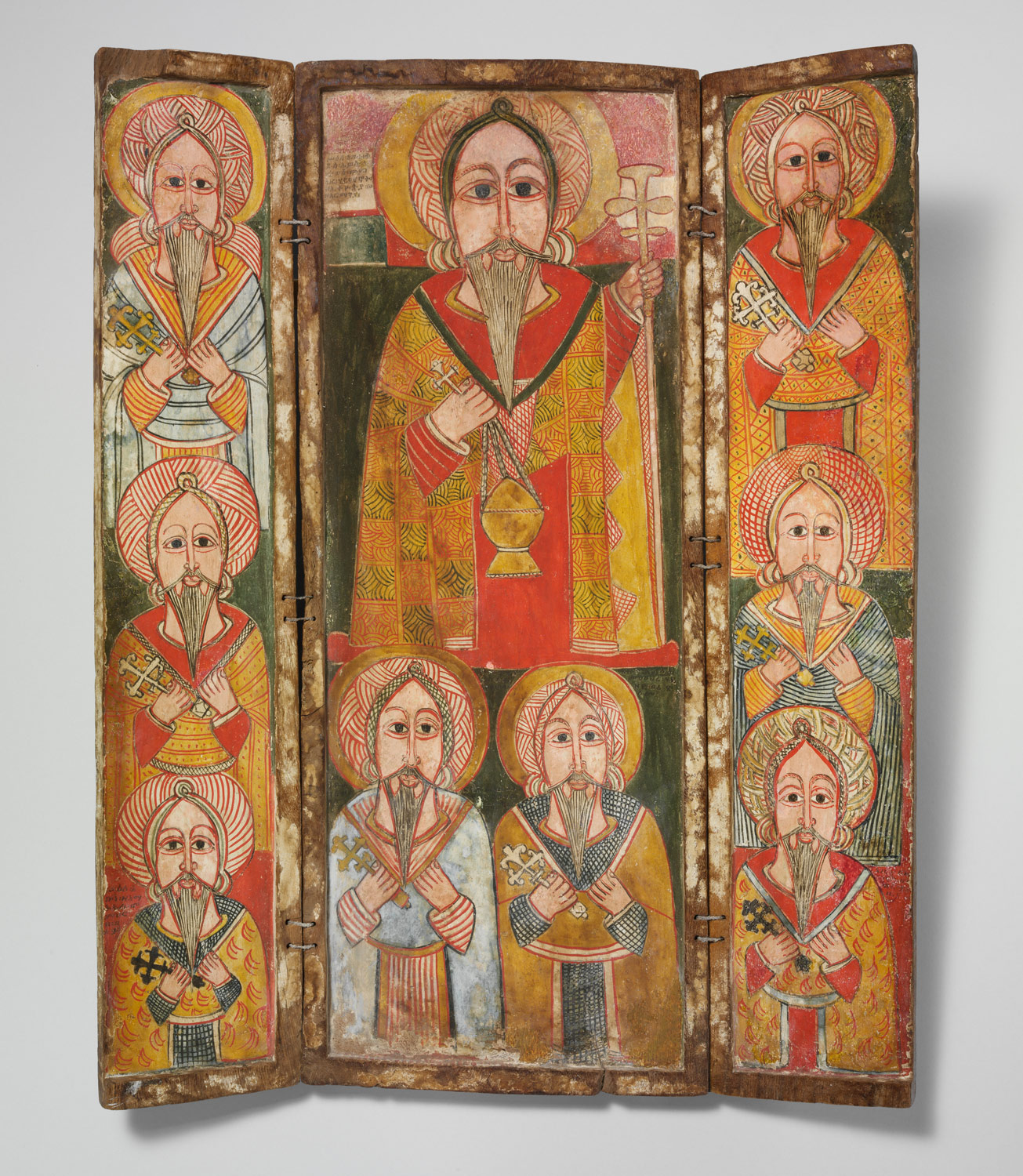 Icon Triptych: Ewostatewos and Eight of His Disciples, late 17th century. The Metropolitan Museum of Art.